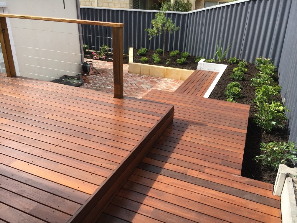 Summer House with Wooden Deck